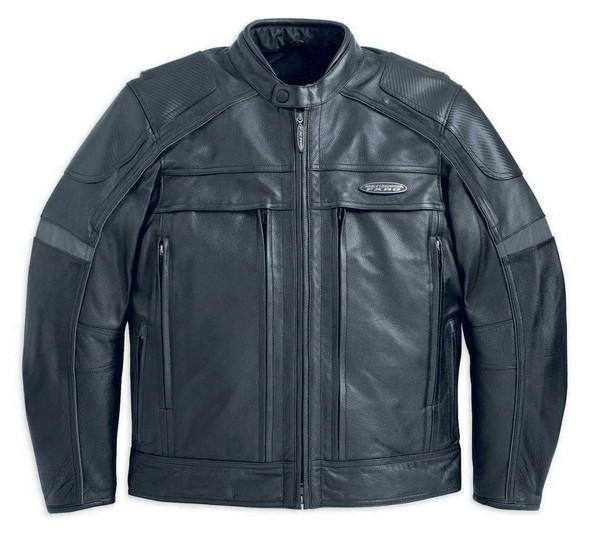 Harley-Davidson Men's FXRG Leather Jacket With Pocket System 98040-12VM - Wisconsin Harley-Davidson