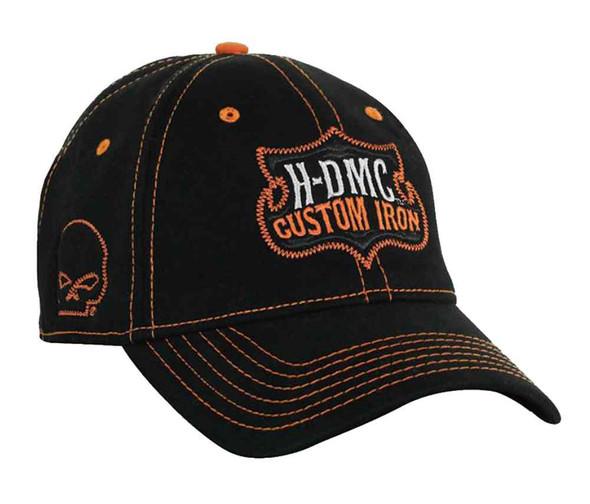 Harley-Davidson Men's Stretch Fit Cap, Willie G Skull Custom Iron, Black BC05430 - Wisconsin Harley-Davidson
