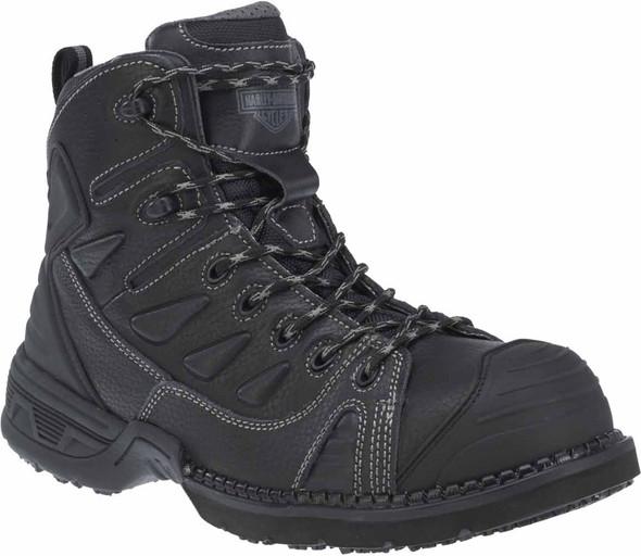 Harley-Davidson Men's Foxfield Steel Toe 4-Inch Black Leather Boots. D93333 - Wisconsin Harley-Davidson