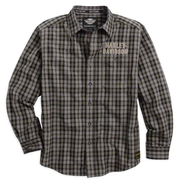 Harley-Davidson Men's Genuine Classics Plaid Shirt L/S 99095-14VM - Wisconsin Harley-Davidson