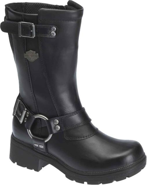 Harley-Davidson Women's Derringer 9-In Black Leather Motorcycle Boots. D83790 - Wisconsin Harley-Davidson