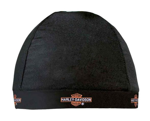 Harley-Davidson Skull Cap, Repeated Long Bar & Shield Logo, Black HC31230 - Wisconsin Harley-Davidson