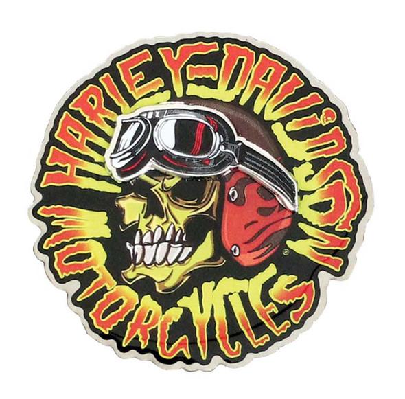 Harley-Davidson Kustom Built Motorcycle Skull Pin, Stainless Steel P049944 - Wisconsin Harley-Davidson
