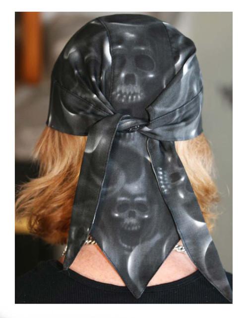 That's A Wrap Unisex Skulls On Fire Design Head Wrap, Black HW2990 - Wisconsin Harley-Davidson