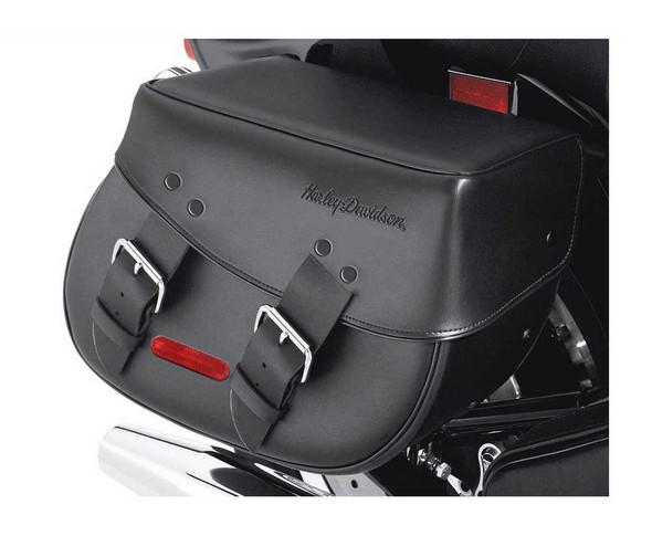 Harley-Davidson Synthetic Leather Saddlebags Black Softail Models 91537-00C - Wisconsin Harley-Davidson