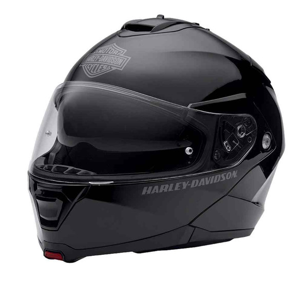Harley-Davidson Mens Modular Helmet, Capstone Sun Shield, Gloss Black 98369-15VM - Wisconsin Harley-Davidson