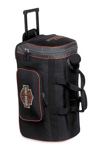 Harley-Davidson Men's 24'' Wheeled Duffel Duffle Bag, Black/Orange. 99412-15VM - Wisconsin Harley-Davidson