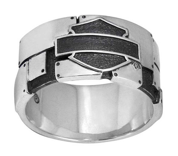 Harley-Davidson Men's Industrial Bar & Shield Logo Ring, Silver HDR0351 - Wisconsin Harley-Davidson