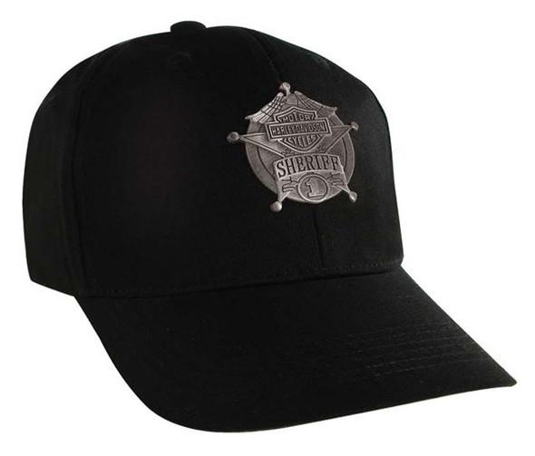 Harley-Davidson Sheriff Decal Black Baseball Cap, Velcro Closure BC126430 - Wisconsin Harley-Davidson