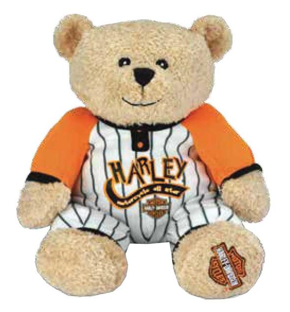 Harley-Davidson Baby Boy's Stuffed Animal, PJ Shifter Bear, 12 inch 20811 - Wisconsin Harley-Davidson