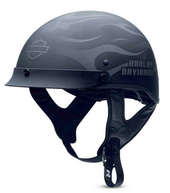 Harley-Davidson Men's Ghost Flames Hybrid Ultra-Light Half Helmet 98242-13VM - Wisconsin Harley-Davidson