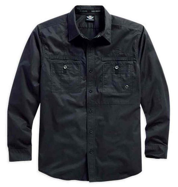 Harley-Davidson Men's Long Sleeve Button Up Shirt, Up-Winged Eagle 96022-16VM - Wisconsin Harley-Davidson