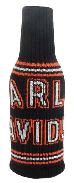 Harley-Davidson Knitted Arch H-D Script Bottle Wrap, Black & Orange BZ128530 - Wisconsin Harley-Davidson