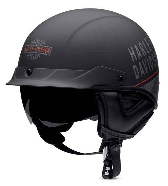 Harley-Davidson Men's Adventurer Ultra-Light Sun Shield Half Helmet 97342-16VM - Wisconsin Harley-Davidson