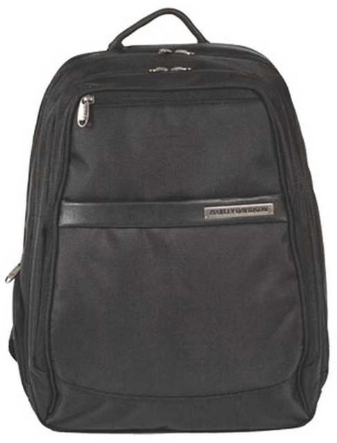 Harley-Davidson Black Leather Nylon Ballistic Laptop Backpack MN5135S-BLACK - Wisconsin Harley-Davidson