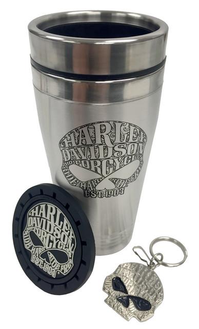 Harley-Davidson Willie G Skull 3pc Auto Travel Pax Gift Set CG60002 - Wisconsin Harley-Davidson