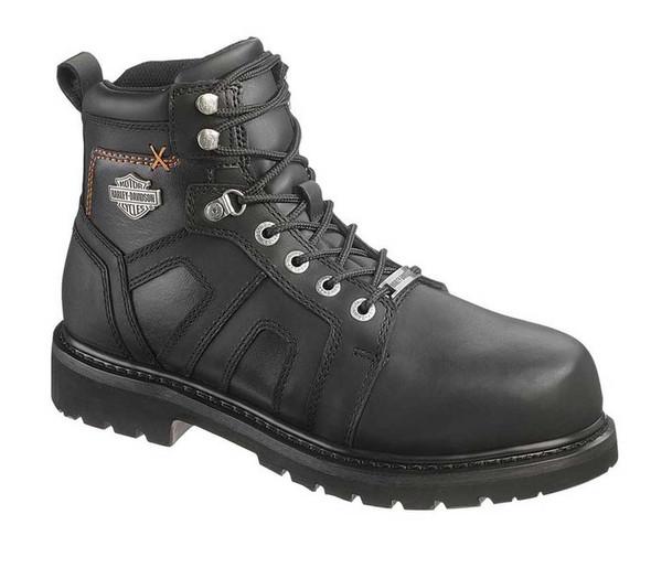 Harley-Davidson Men's Chad Steel Toe 5-In Black Motorcycle Boots. D93176 - Wisconsin Harley-Davidson