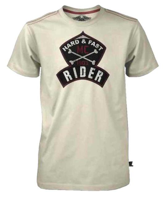 Harley-Davidson Men's Black Label Vintage Short Sleeve Rider T-Shirt, Cream - Wisconsin Harley-Davidson