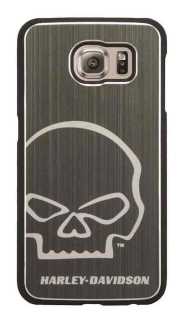 Harley-Davidson Men's Aluminum Willie G Skull Galaxy S6 Phone Shell, Silver 7800 - Wisconsin Harley-Davidson