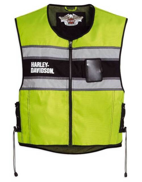 Harley-Davidson Men's Hi-Vis Yellow Riding Vest 98173-10VM - Wisconsin Harley-Davidson