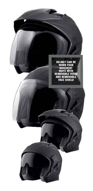 Harley-Davidson Men's Essence Sun Shield B07 3/4 Helmet, Matte Black 98211-16VM - Wisconsin Harley-Davidson