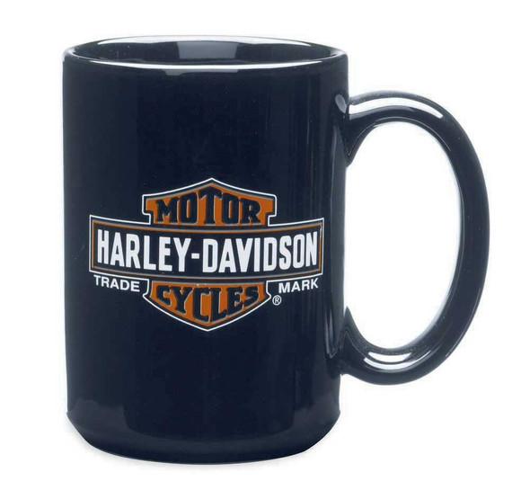 Harley-Davidson Trademark Bar & Shield Logo Ceramic Mug 15 oz, Coffee 99216-14V - Wisconsin Harley-Davidson