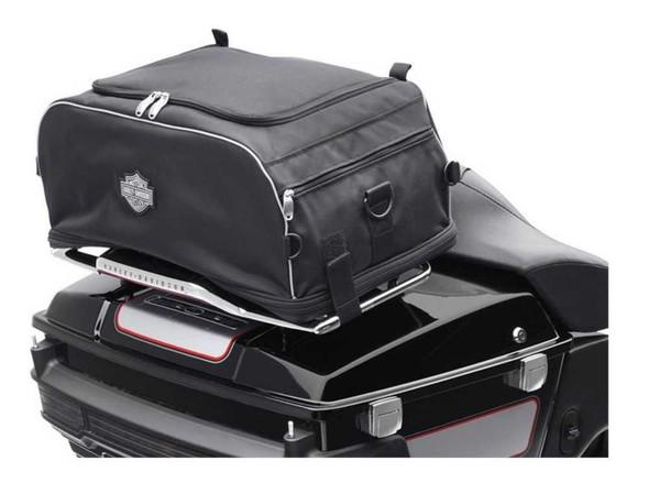 Harley-Davidson Bar & Shield Zippered Collapsible Rack Bag Black 93300009 - Wisconsin Harley-Davidson