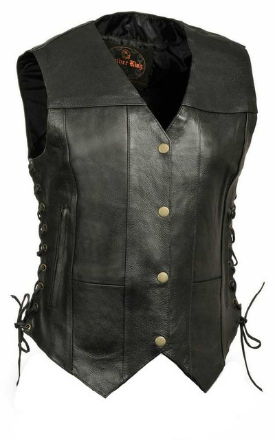 Millwaukee Leather Women's 6 Pocket Side Lace Vest SH1292 - Wisconsin Harley-Davidson