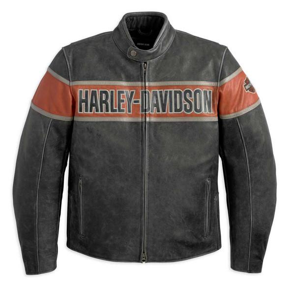 Harley-Davidson Men's Victory Lane Leather Jacket 98057-13VM - Wisconsin Harley-Davidson
