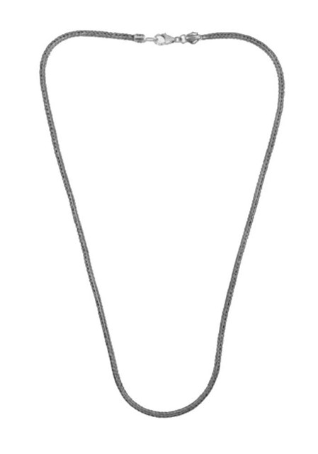 Harley-Davidson Womens Necklace, Silver Woven Ride Bead Chain, Silver HDD0058/18 - Wisconsin Harley-Davidson