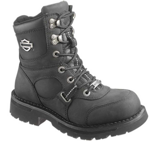 Harley-Davidson Women's Mallery 6.5-Inch Black Leather Motorcycle Boots D87036 - Wisconsin Harley-Davidson