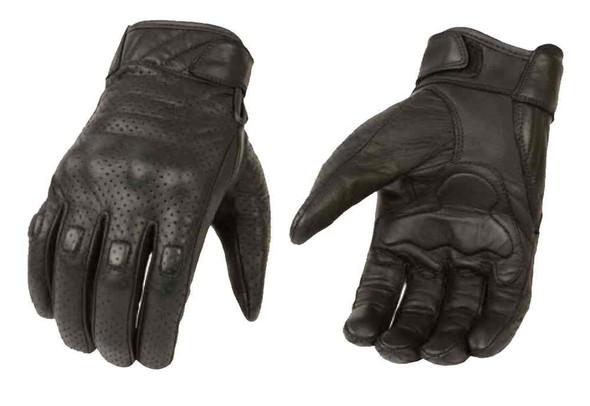 Milwaukee Leather Men's Premium Leather Perforated Cruiser Gloves, Black MG7500 - Wisconsin Harley-Davidson