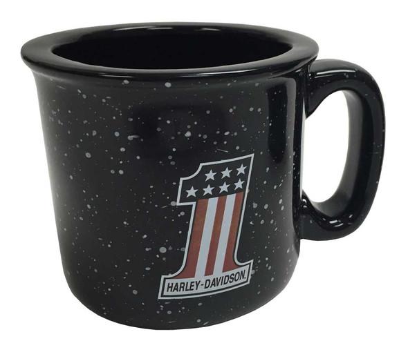 Harley-Davidson Campfire #1 Coffee Mug, 12 oz. Black Speckled HD-HNO-2206 - Wisconsin Harley-Davidson