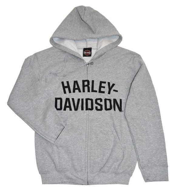 Harley-Davidson Men's Hooded Sweatshirt Jacket, H-D Hoodie H-D Gray 30296640 - Wisconsin Harley-Davidson