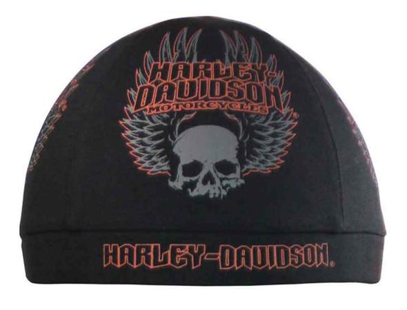 Harley-Davidson Men's Skull Cap, Gothic Winged Skull Graphic, Black SK10864 - Wisconsin Harley-Davidson