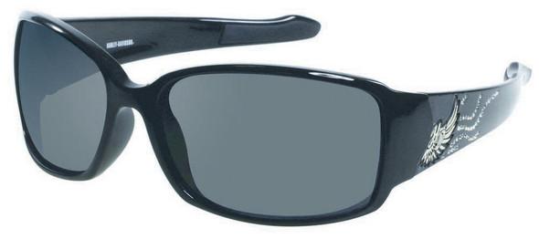 Harley-Davidson Women's Sun Bling H-D Wing Black Lens Sunglasses HDS8001BLK-3 - Wisconsin Harley-Davidson