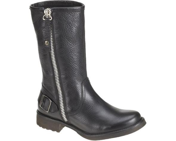 Harley-Davidson Women's Baisley 9.5-Inch Black Leather Boots. D83764 - Wisconsin Harley-Davidson