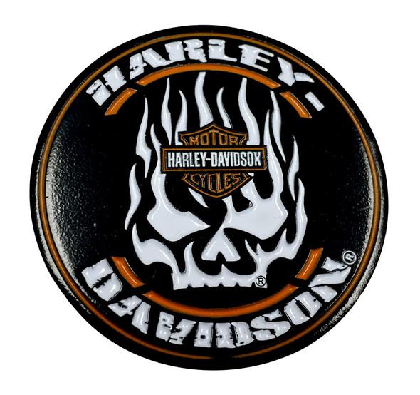 Harley-Davidson Flaming Willie G Skull H-D Challenge Coin, 1.75 in Coin 8004873 - Wisconsin Harley-Davidson