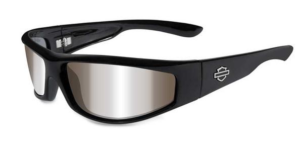 Harley-Davidson Men's Revolvr Silver Lens & Gloss Black Frame Sunglasses HDREV2 - Wisconsin Harley-Davidson