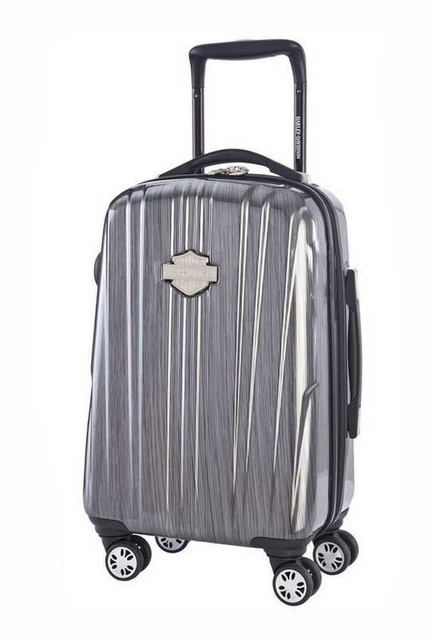 Harley-Davidson 18 Inch Carry-On, Light Weight Wheeled, Steel Gray 99918-STL/GRY - Wisconsin Harley-Davidson