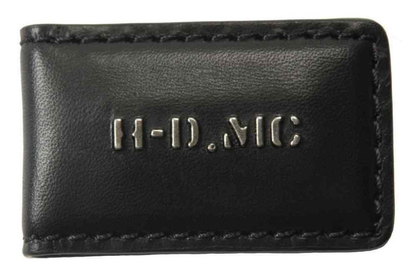 Harley-Davidson Men's Magnetic Money Clip, HDMC Embedded Font, Black MC8537L-BLK - Wisconsin Harley-Davidson