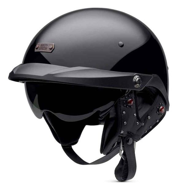 Harley-Davidson Women's Panorama Half Motorcycle Helmet, Matte Black 97348-16VW - Wisconsin Harley-Davidson