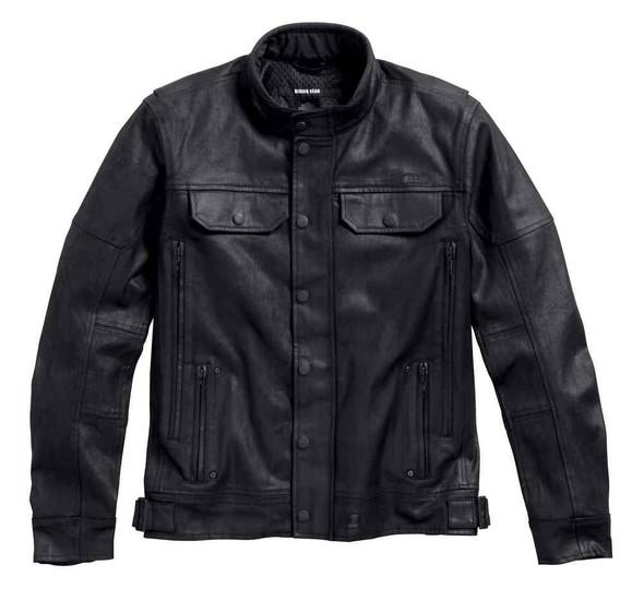 Harley-Davidson Men's Black Label Core Coated Denim Riding Jacket 98117-16VM - Wisconsin Harley-Davidson