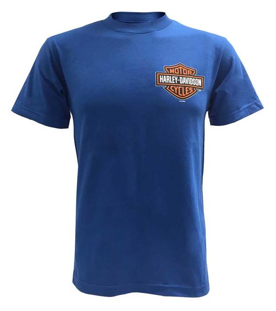 Harley-Davidson Men's Bar & Shield Short Sleeve T-Shirt, Royal Blue 30291741 - Wisconsin Harley-Davidson