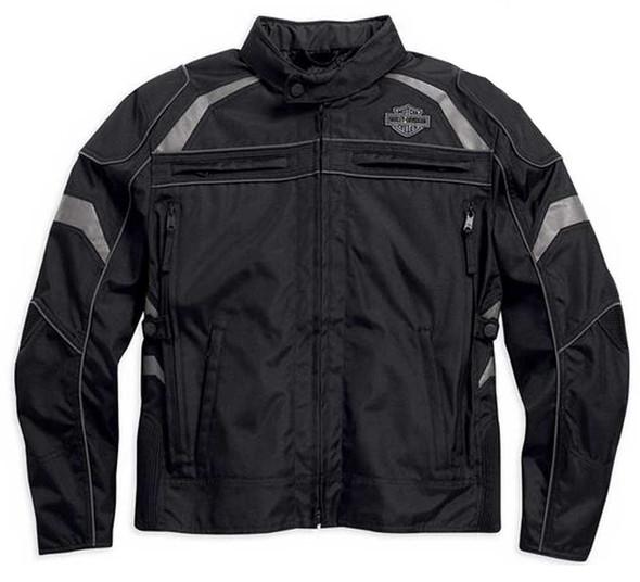 Harley-Davidson Men's Medallion Reflective Riding Jacket, Black. 98082-15VM - Wisconsin Harley-Davidson