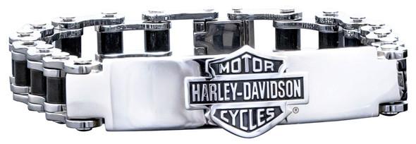 Harley-Davidson Men's Bike Chain ID Bracelet, Stainless Steel HSB0071-8.5 - Wisconsin Harley-Davidson