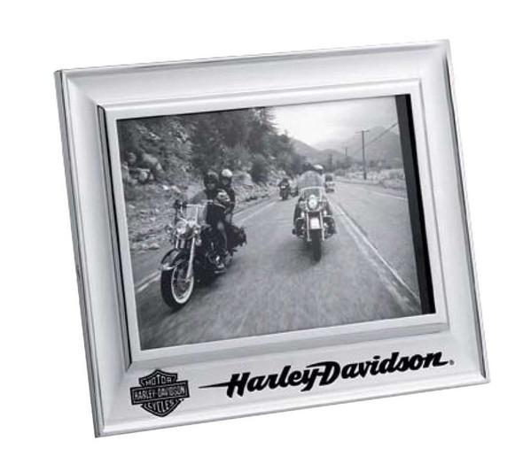 Harley-Davidson Photo Frame, Chrome Bar & Shield Frame, 5 X 7 in. 99203-15V - Wisconsin Harley-Davidson