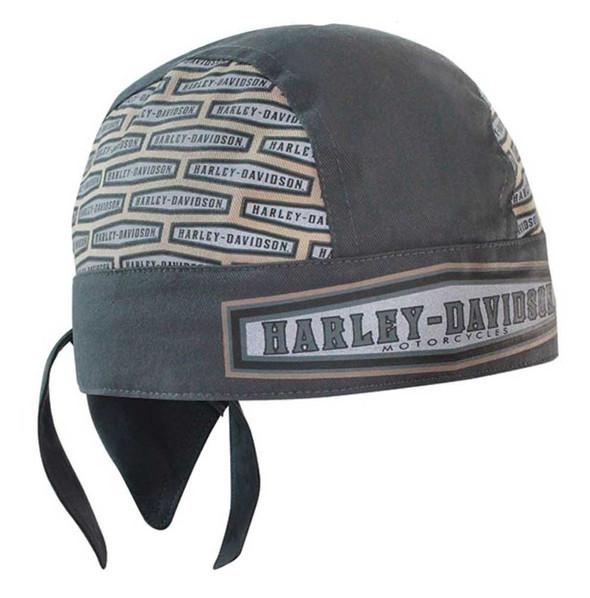 Harley-Davidson Men's Headwrap, Hexagon H-S Moisture Wicking, Gray HW09556 - Wisconsin Harley-Davidson