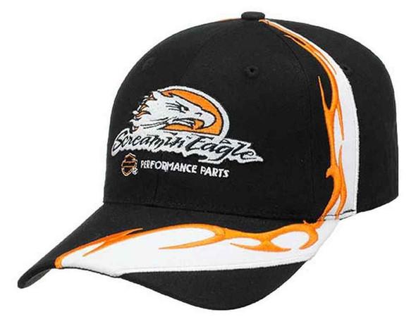 Harley-Davidson Men's Screamin' Eagle Flame Sweep Baseball Cap, Black HARLMH0276 - Wisconsin Harley-Davidson
