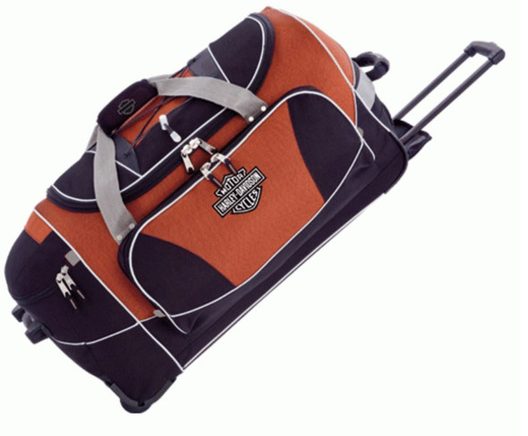 Harley-Davidson Hybrid Luggage 21'' Travel Equipment Duffel Rust/Black 99621-RB - Wisconsin Harley-Davidson